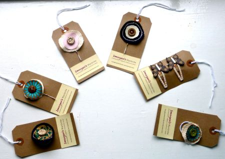 Organic, Sustainable Hair Clips