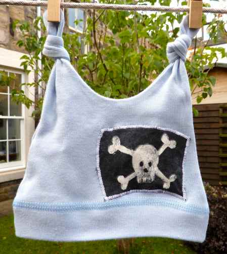 ethical baby hat. Pirate baby hat