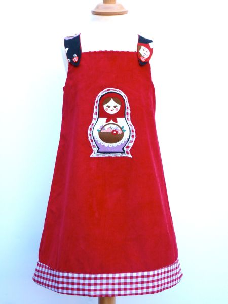 girls red dress, Russian doll dress